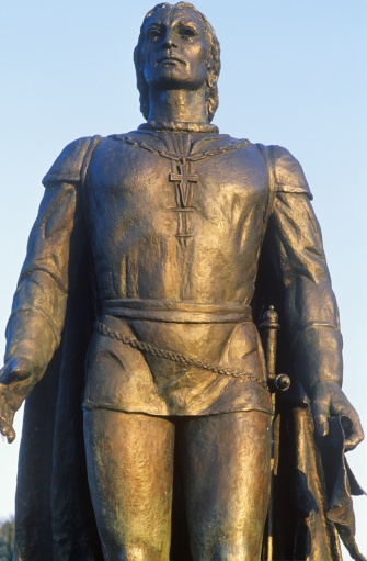 "Christopher Columbus - Explorer「""Bronze sculpture of Christopher Columbus, Coit Tower, San Francisco, California""」:スマホ壁紙(6)"