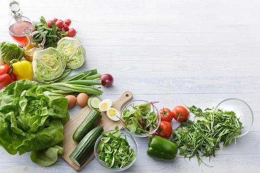 Vegetable「Salads: Ingredients for Salad Still Life」:スマホ壁紙(12)