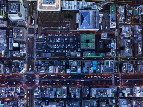 Tokyo - Japan「Urban city from the bird's eye view」:スマホ壁紙(16)