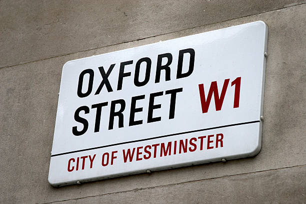 England, London, Oxford Street sign on wall:スマホ壁紙(壁紙.com)