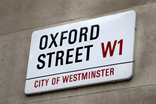 Oxford Street「England, London, Oxford Street sign on wall」:スマホ壁紙(18)