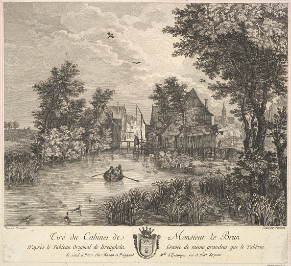 Etching「River Landscape After The Painting In The Cabinet Of Mr Poullain」:写真・画像(0)[壁紙.com]