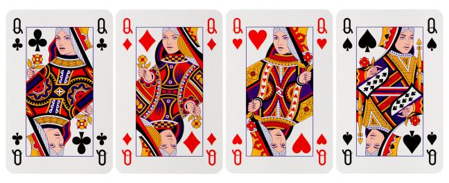 Heart「four of a kind」:スマホ壁紙(6)