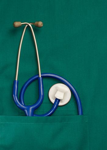 Medical Scrubs「Stethoscope in pocket of medical clothing」:スマホ壁紙(15)