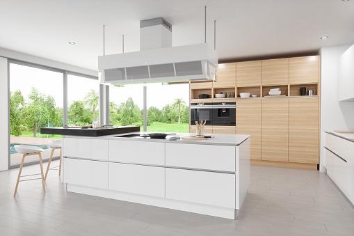 Island「Luxury Modern Kitchen Interior」:スマホ壁紙(16)