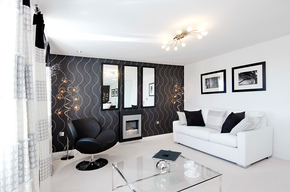 Modern「Luxury modern lounge in new build house」:写真・画像(19)[壁紙.com]