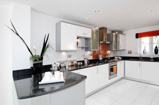 Luxury modern kitchen in new build house:ニュース(壁紙.com)