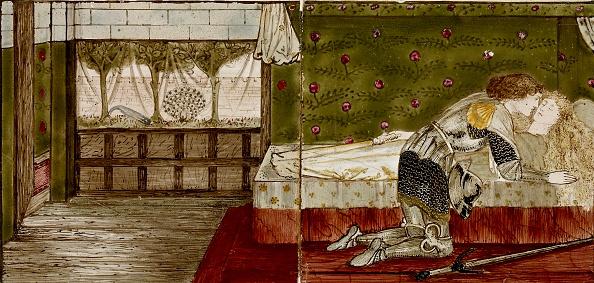 画像や映像「Sixteen Tiles Form Eight Illustrations Of The Briar Rose Tale,」:写真・画像(4)[壁紙.com]