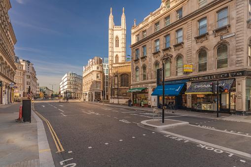 London - England「UK, London, City of London, Mansion House station, Queen Victoria Street」:スマホ壁紙(4)