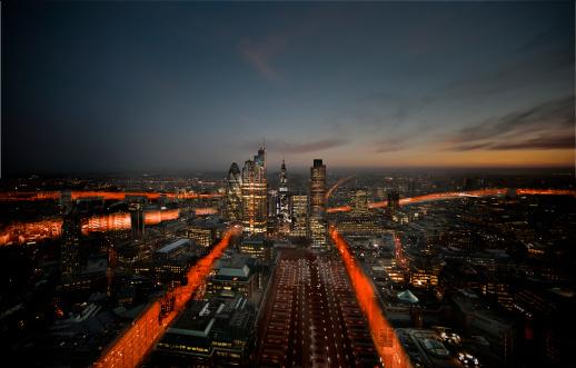 Urban Sprawl「London City Aerial trails」:スマホ壁紙(18)