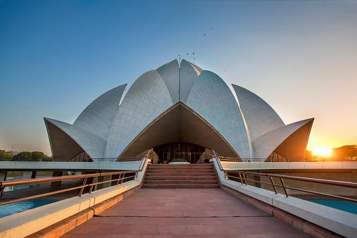 Delhi「Lotus Temple」:スマホ壁紙(8)