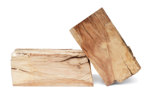 Log「Hardwood logs isolated on white」:スマホ壁紙(18)