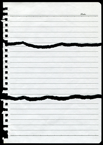 Letter - Document「Torn Notebook Page paper background textured」:スマホ壁紙(9)