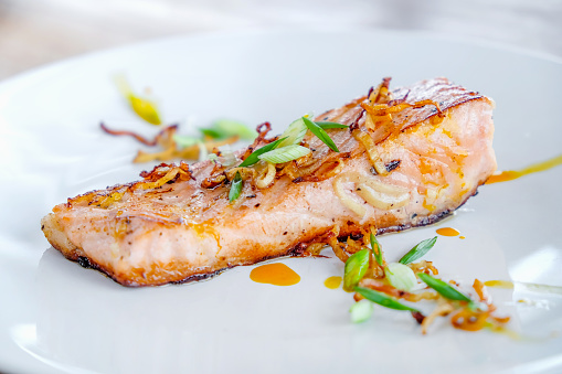Soy Sauce「Pan fried salmon fillets with scallion and ginger」:スマホ壁紙(0)