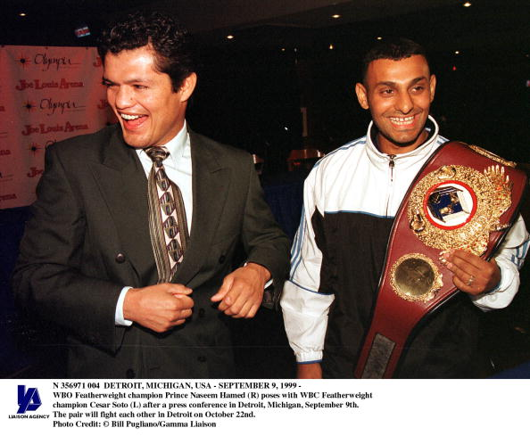 WBC「Detroit Michigan usaSeptember 9 1999 Wbo Featherweight Champion Prince Naseem Hamed (R) Pose」:写真・画像(18)[壁紙.com]