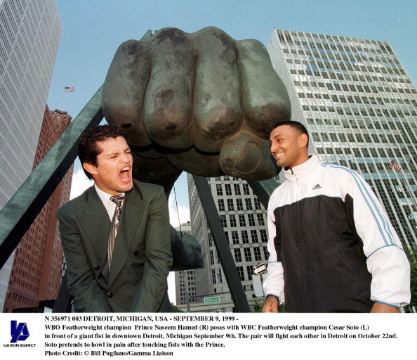 WBC「Detroit Michigan usaSeptember 9 1999 WBC Featherweight Champion Cesar Soto (L) Pretends To H」:写真・画像(17)[壁紙.com]