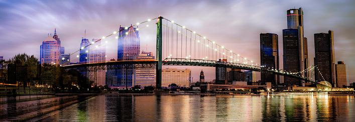 Digital Composite「Detroit, Michigan - Ambassador Bridge」:スマホ壁紙(19)
