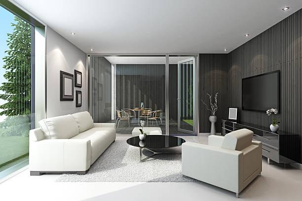 Modern Villa with terrace:スマホ壁紙(壁紙.com)