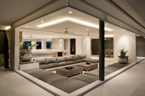 Single Flower「Modern Villa Living Room」:スマホ壁紙(10)