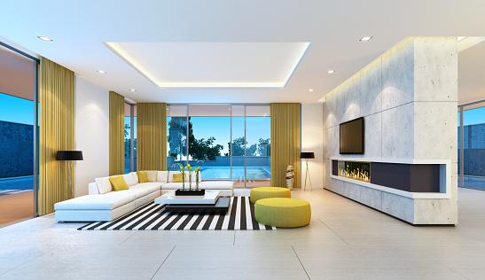 Suites「Modern Villa Interior」:スマホ壁紙(5)