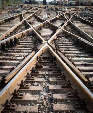Railroad Junction「Intersection point of multiple railroad tracks」:スマホ壁紙(10)