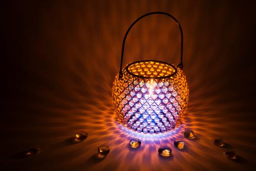 Gel Effect Lighting「Glowing candle lamp made of crystal beads」:スマホ壁紙(19)