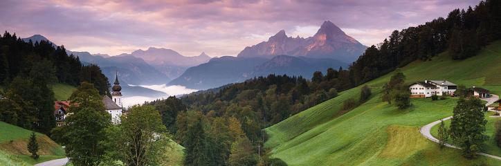 Pilgrimage「Wallfahrtskirche Maria-Gern in Berchtesgaden mit Watzmann, 42MP Panorama」:スマホ壁紙(15)