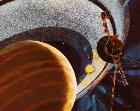 Illustration「Voyager 1 Passing Saturn」:写真・画像(4)[壁紙.com]