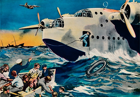 青「Two Short Sunderlands rescuing crew, 1940.」:写真・画像(16)[壁紙.com]