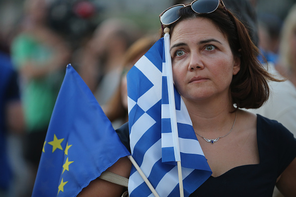Economy「Greeks Rally In Support Of Euro」:写真・画像(1)[壁紙.com]