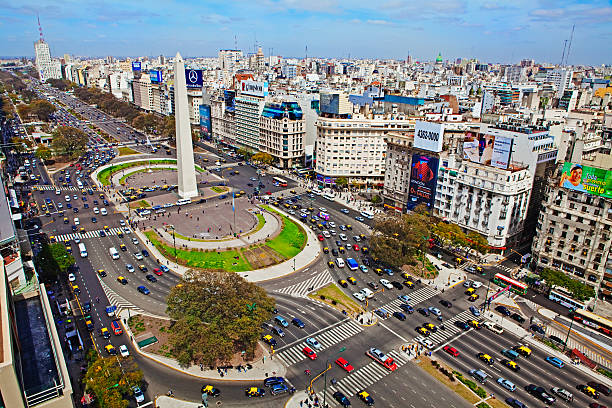 Widest avenue in the world, Buenos Aires,:スマホ壁紙(壁紙.com)