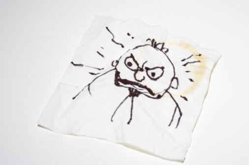 Emotional Stress「Paper napkin with doodle of man」:スマホ壁紙(17)