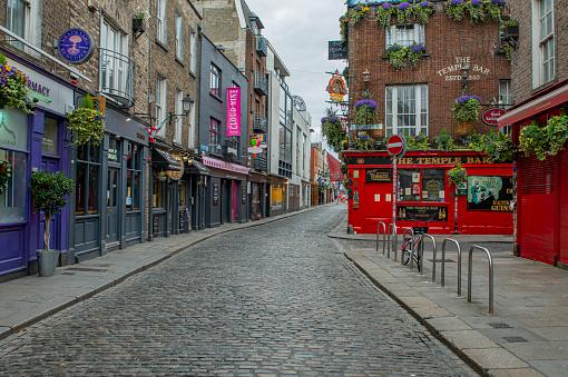Coronavirus「Empty city streets during Covid 19, Dublin, Ireland.」:スマホ壁紙(19)