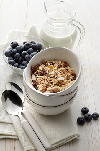 Granola「Breakfast: Granola, Blueberries and Yogurt Still Life」:スマホ壁紙(6)
