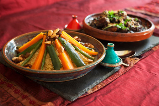 Middle Eastern Culture「Vegetable couscous and Meat Tagine」:スマホ壁紙(0)