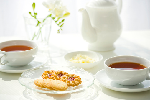 Dining Table「Snack of cookies and tea」:スマホ壁紙(3)