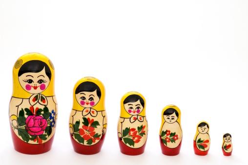 Doll「Russian matryoshka dolls in different sizes」:スマホ壁紙(15)