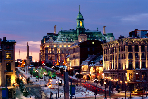 Annual Event「Place Jacques Cartier on a winter night, Old Montreal, Quebec, Canada」:スマホ壁紙(8)