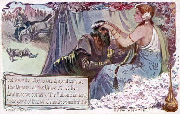 Generic - Description「Rubaiyat of Omar Khayyam - illustration and poem showing a couple in field. Persian poet and mathematician」:写真・画像(11)[壁紙.com]