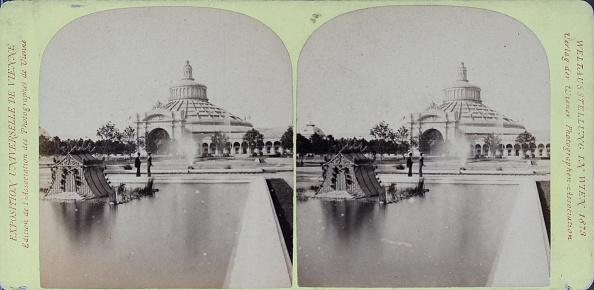Architectural Feature「Vienna World Exhibition 1873. Rotunda With The Swan Basin. Verlag Der Wiener Photographen-Association. Stereophotographie」:写真・画像(8)[壁紙.com]