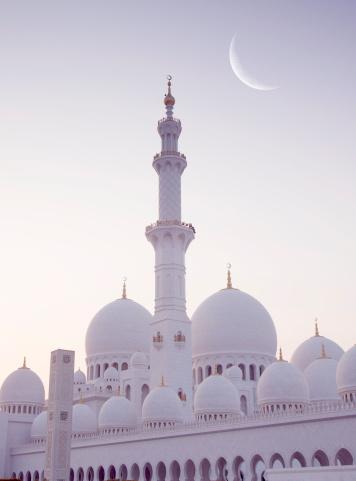 Moon「Moonrise at Sheik Zayed mosque」:スマホ壁紙(8)