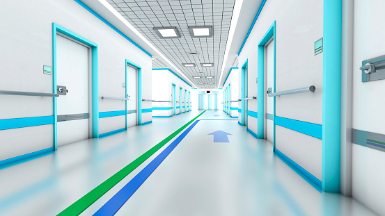 Guidance「3D Rendering, Architectural visualization of a modern hospital.」:スマホ壁紙(2)
