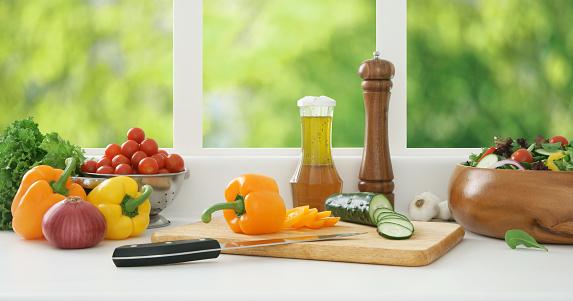Vegetables「準備のサラダ」:スマホ壁紙(3)