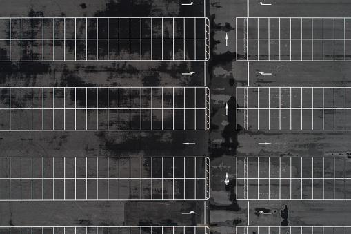 Parking Lot「Empty parking lots, aerial view.」:スマホ壁紙(13)