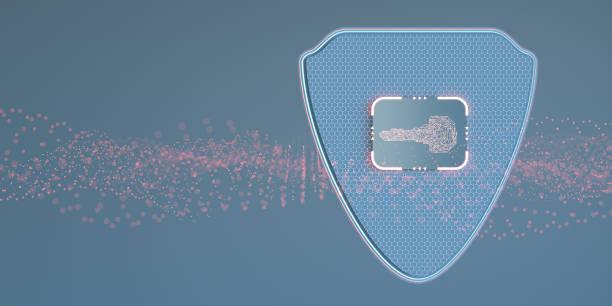 Digital security key concept:スマホ壁紙(壁紙.com)