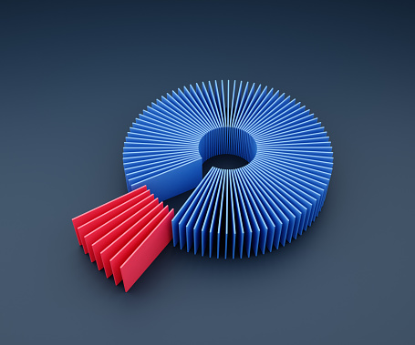 Choosing「Donut/pie chart made of thin red and blue plates」:スマホ壁紙(6)