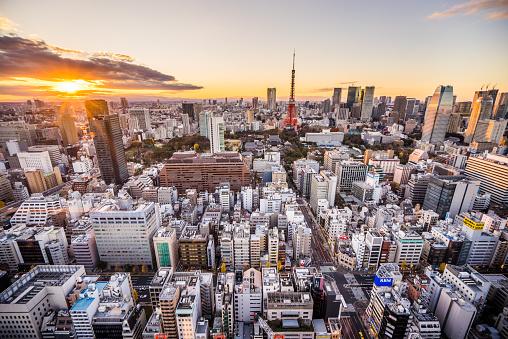 Tokyo Tower「Tokyo Sunset」:スマホ壁紙(2)