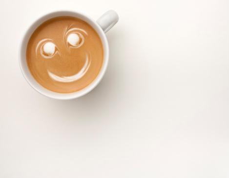 幸福「Smiling cup of coffee」:スマホ壁紙(15)
