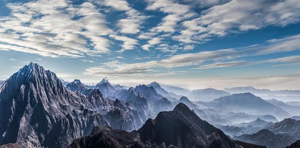 Himalayas「Fading Mountain landscape of Himalayas」:スマホ壁紙(1)