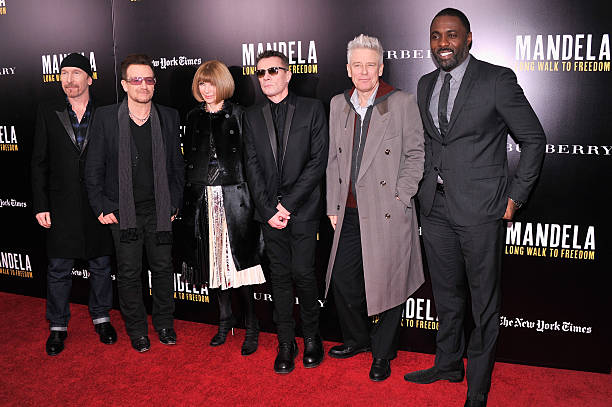 """""""Mandela: Long Walk To Freedom"""" Screening Hosted By U2, Anna Wintour, Bob And Harvey Weinstein With Burberry:ニュース(壁紙.com)"""